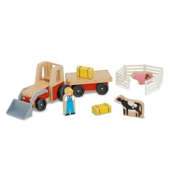 Traktor z przyczepką i figurkami
