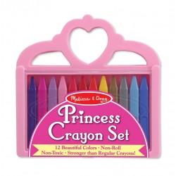 Zestaw kredek świecowych – 12 kolorów - korona