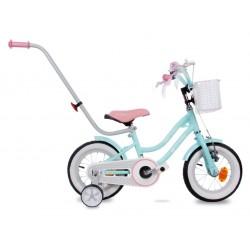 """Rowerek BMX 12"""" Gwiazdka - turkusowy z różowym siodełkiem"""