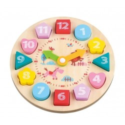 Zegar z klockami
