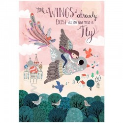 Petit Monkey - Poster Your Wings 42 x 29,7 cm