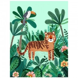 Petit Monkey - Poster Tiger 70 x 50 cm