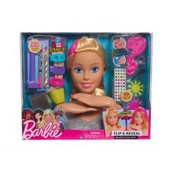 Barbie Deluxe głowa do stylizacji blond
